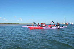 Sea Kayaking group with James Linford